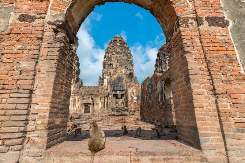Phra Prang Sam Yot fotografia de stock royalty free