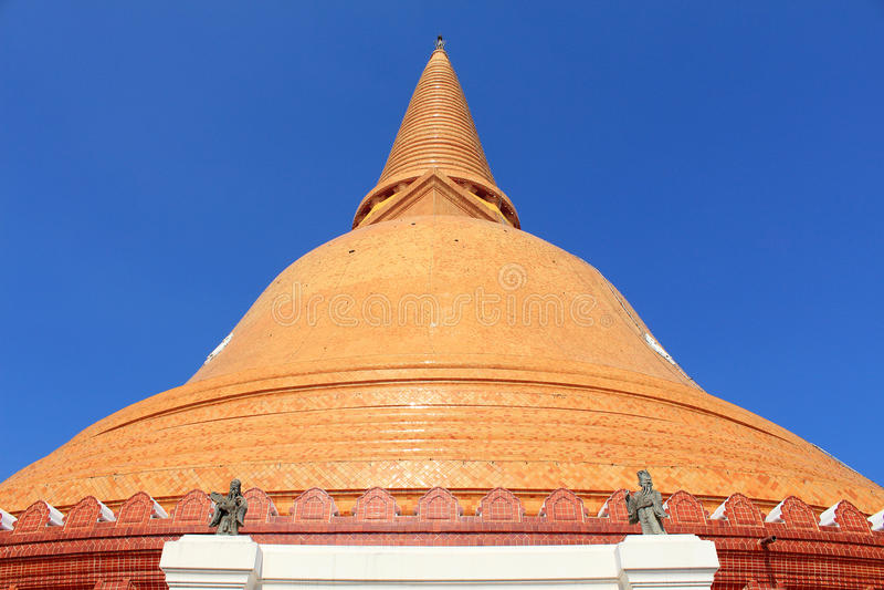 Phra Prathom Jedi. The big Pagoda of Thailand stock photography