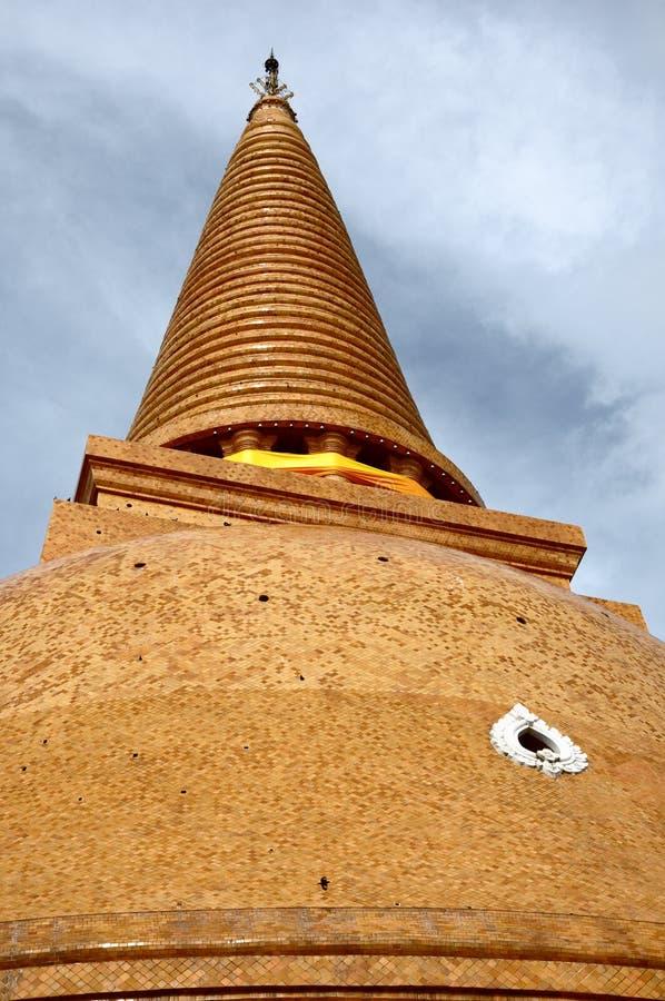 PHRA PRATHOM JEDI, Thailand. PHRA PRATHOM JEDI, The biggest Pagoda of Thailand stock photo