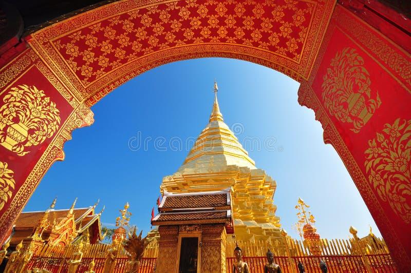 Phra que Doi Suthep, Chiang Mai, Tailândia imagens de stock royalty free