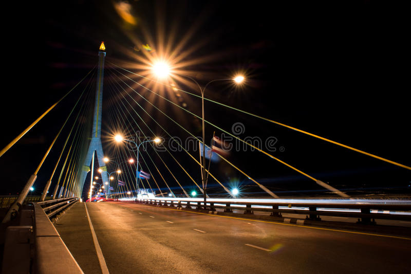 Phra Rama 8 Brug stock fotografie