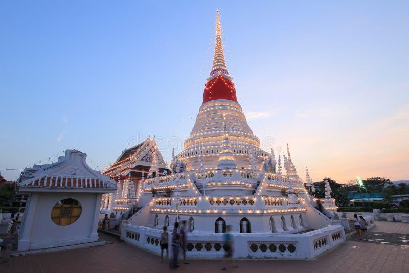 Phra Samut Chedi w Samut Prakan, Tajlandia zdjęcie royalty free