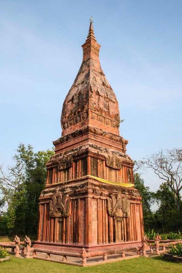 Phra Tat Phanom Nakorn Phanom в древнем городе стоковое изображение
