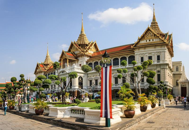 Phra Thinang Chakri Maha Prasat in the grand palace ground, heart of Bangkok, Thailand. stock photos