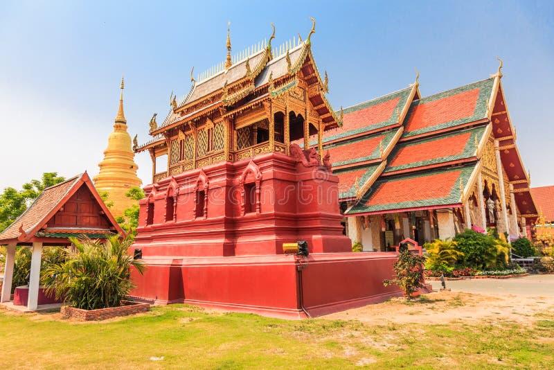 Phra van Wat dat hariphunchai royalty-vrije stock afbeelding