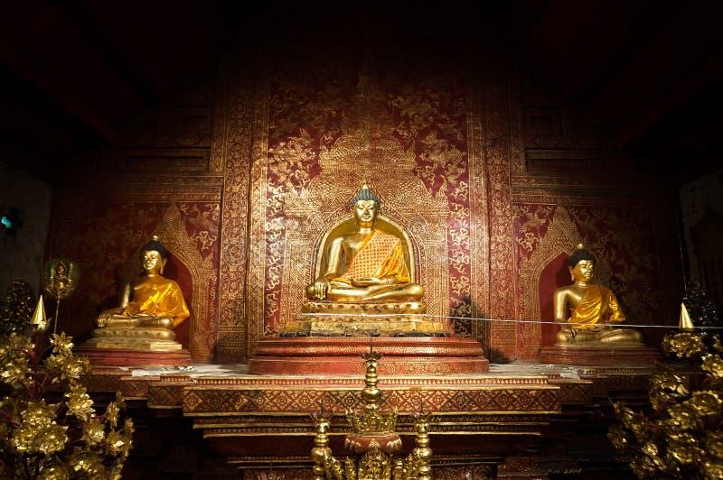 Phra Wat的Phra辛哈,清迈,泰国辛哈菩萨 图库摄影