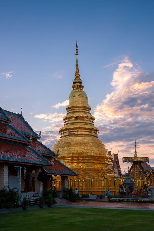 Phra Wat εκείνο το hariphunchai στοκ φωτογραφία με δικαίωμα ελεύθερης χρήσης