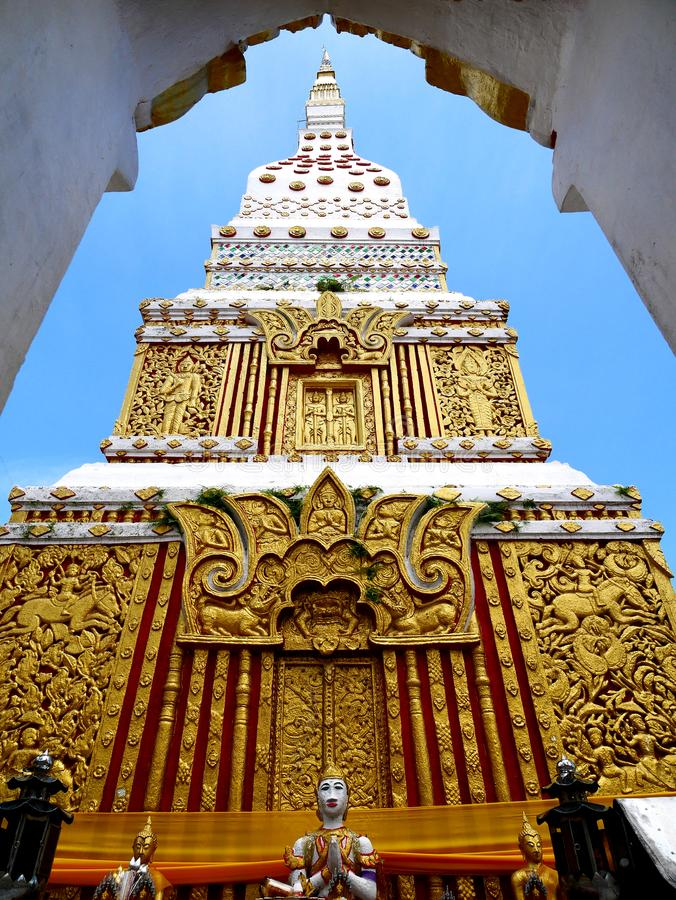 Phra Wat που σε Nakorn Phanom Ταϊλάνδη στοκ εικόνα με δικαίωμα ελεύθερης χρήσης