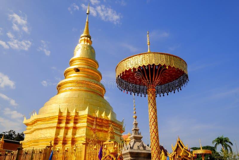 Phra Wat которое hariphunchai стоковые изображения