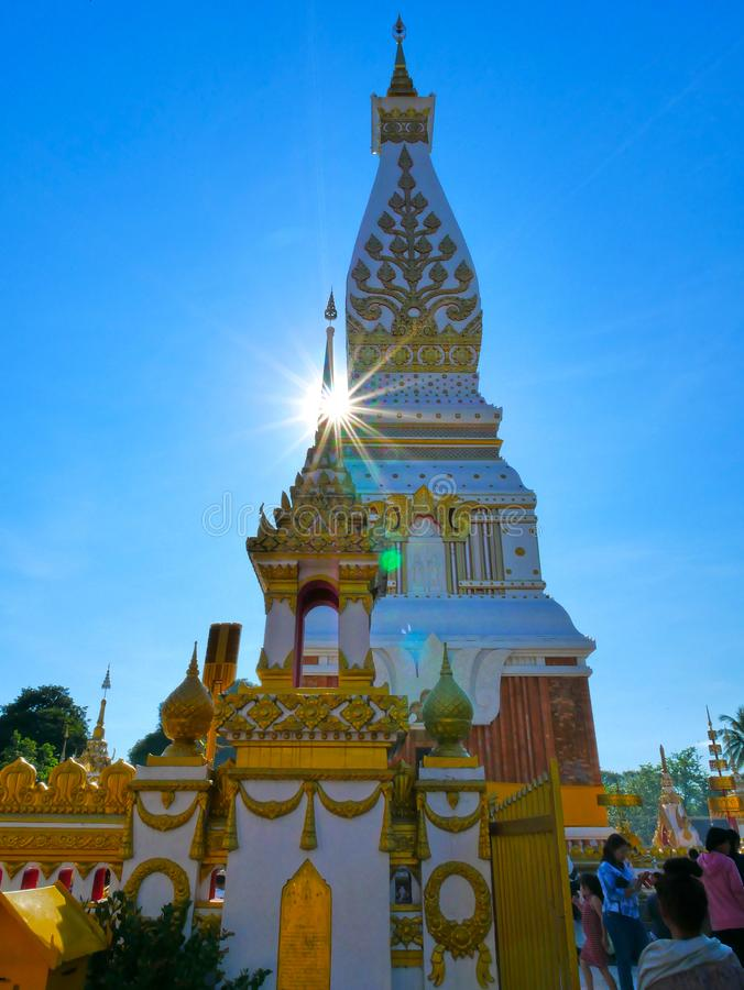Phra Wat то phanom на Nakorn Phanom Таиланде стоковое фото rf