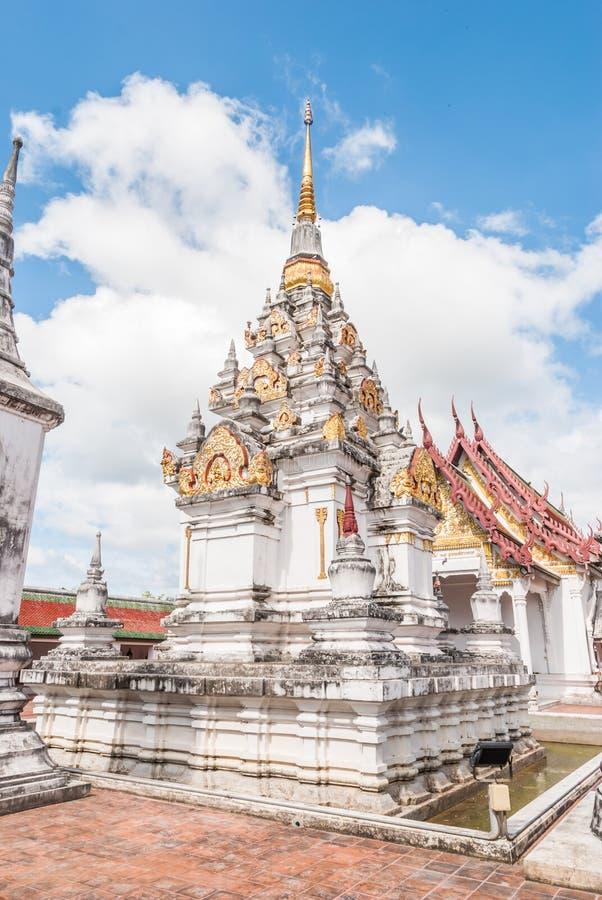Phra柴Ya,泰国的南部的著名塔 库存照片