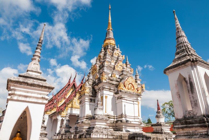 Phra柴Ya,泰国的南部的著名塔 图库摄影