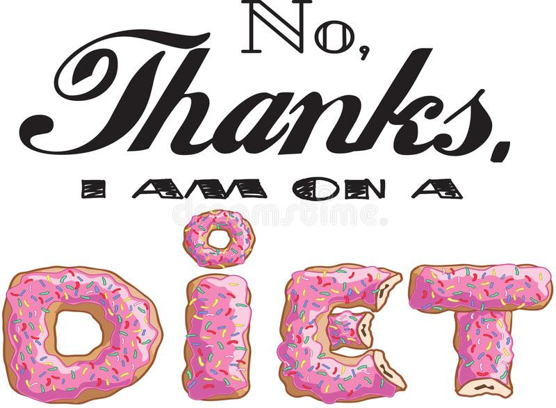 No thanks diet royalty free stock image