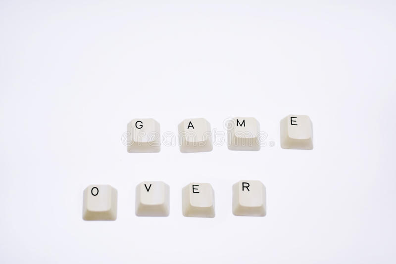 Phrase Game Over royalty free stock image
