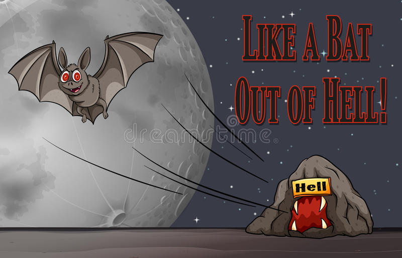 Image result for picture of a bat out of hell