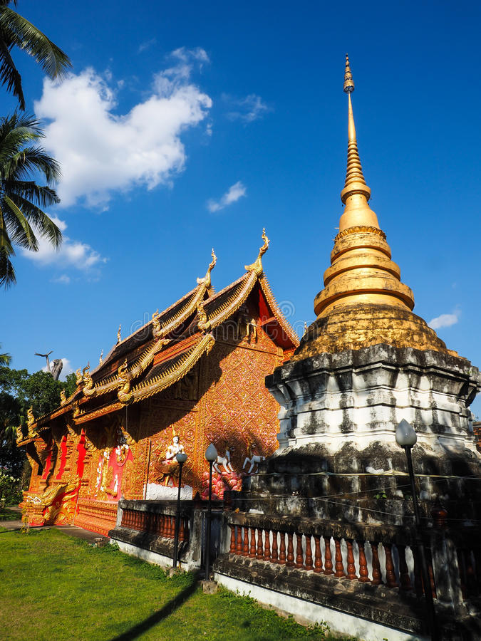 Phrathat Lampang Luang temple royalty free stock images