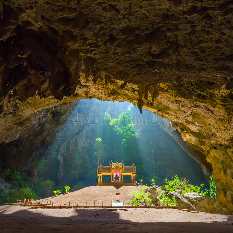Phraya Nakhon Cave. Is the most popular attraction is a four-gabled pavilion constructed during the reign of King Rama its beauty and distinctive identity the royalty free stock images