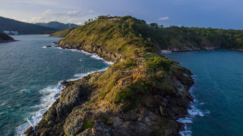 Phromthep海角在普吉岛 免版税库存照片
