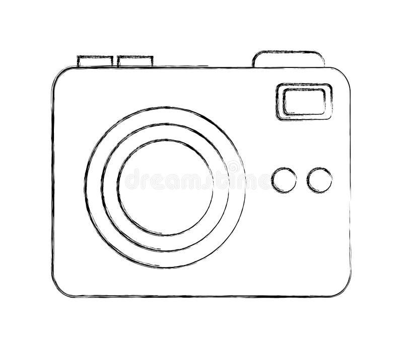 Phtographic kamery obiektywu b?ysku guzik ilustracji