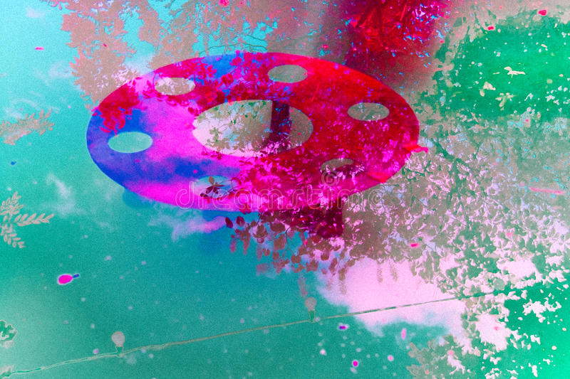 Phtotography infrarouge abstrait d'une fontaine illustration stock