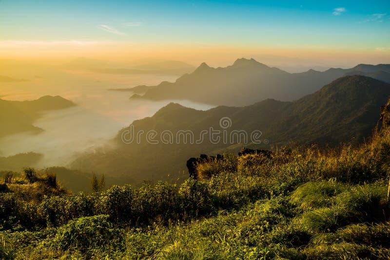 View of Phu Chi Fa at Chiang rai, Thailand royalty free stock photos