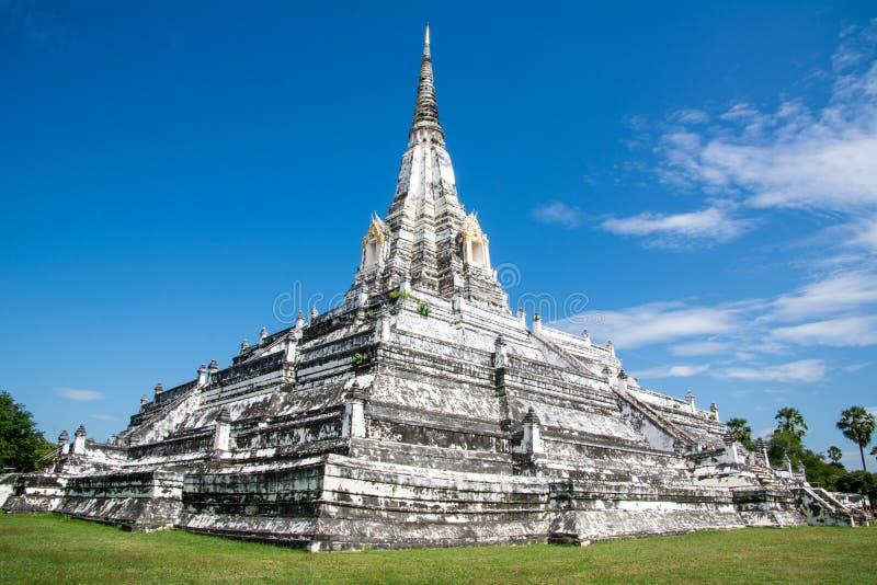 White Temple Phu Khao Thong, Ayutthaya, Thailand royalty free stock images
