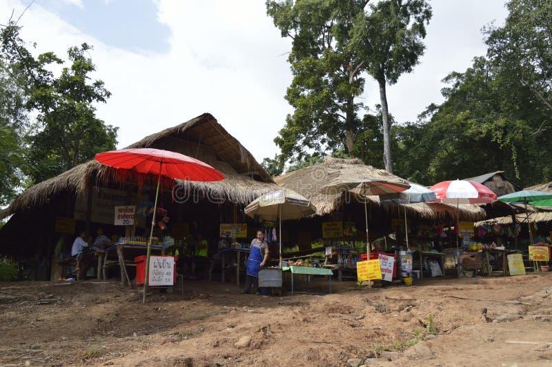 Phu kraduengmarknad i hailand fotografering för bildbyråer