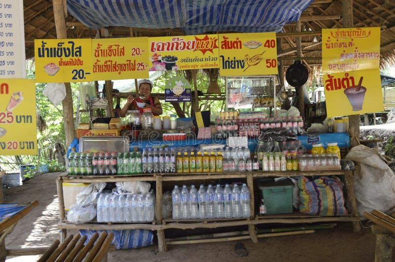 Phu kraduengmarknad i hailand royaltyfri bild