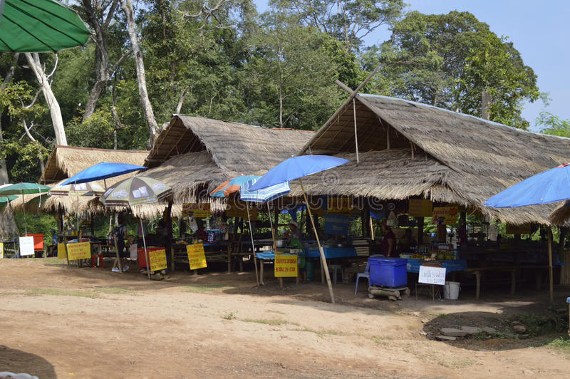 Phu kraduengmarknad i hailand royaltyfri foto