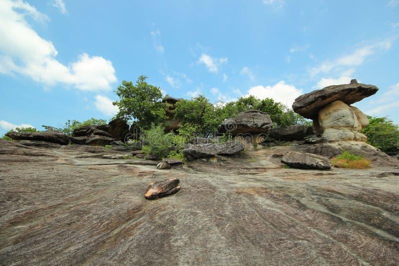 Phu Pha Thoep park narodowy, Mukdahan, Tajlandia, zdjęcia stock