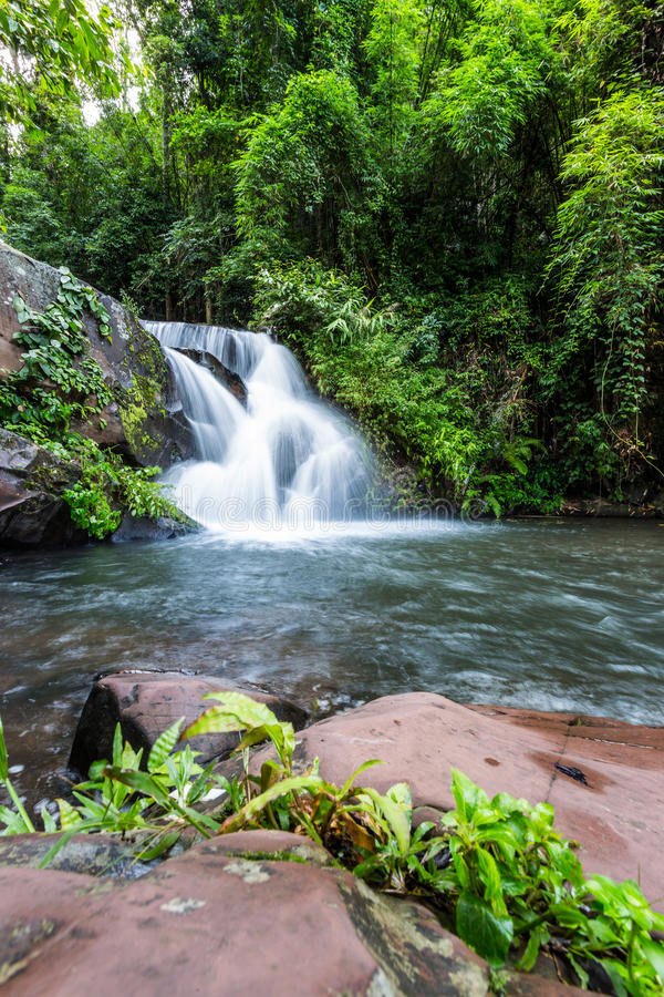 Phu Soi Dao waterfall royalty free stock image