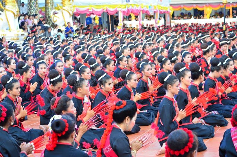 Phu Tai plemię, Sakon Nakhon, Tajlandia zdjęcia stock
