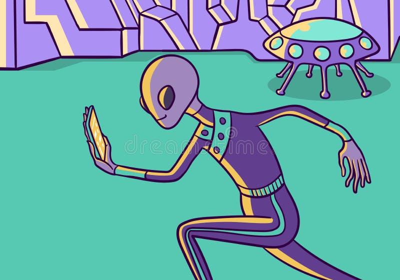 Phubbing illustration de vecteur