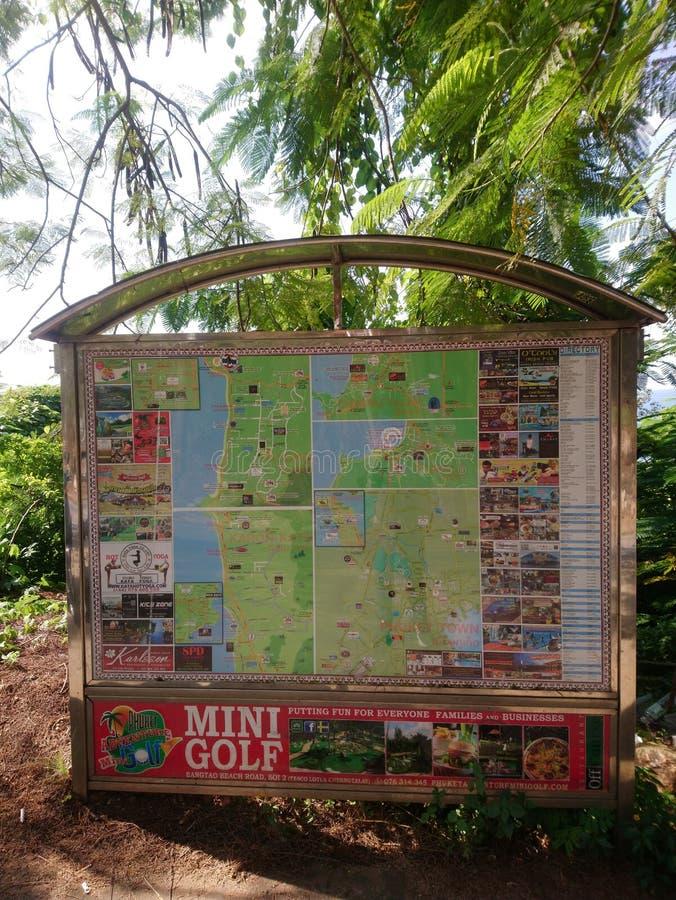 Phuket berättar den turist- översikten i Thailand dig arkivfoton