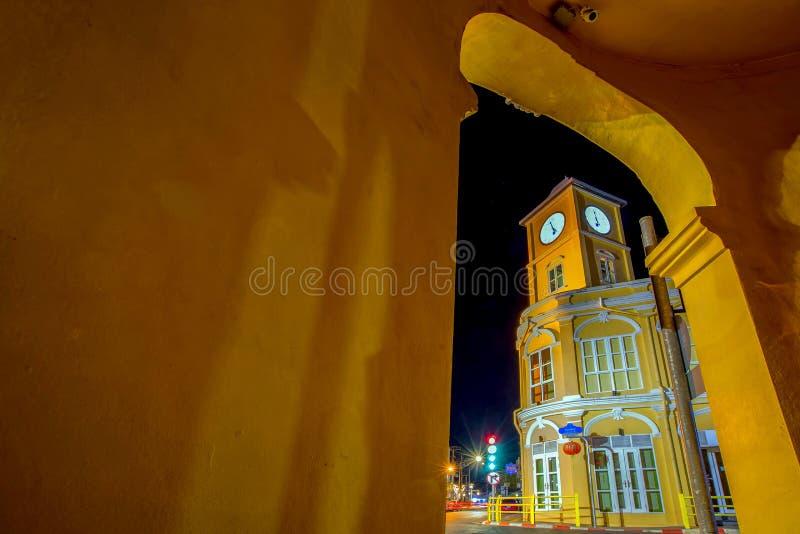 Phuket gammal stad Thailand arkivfoton