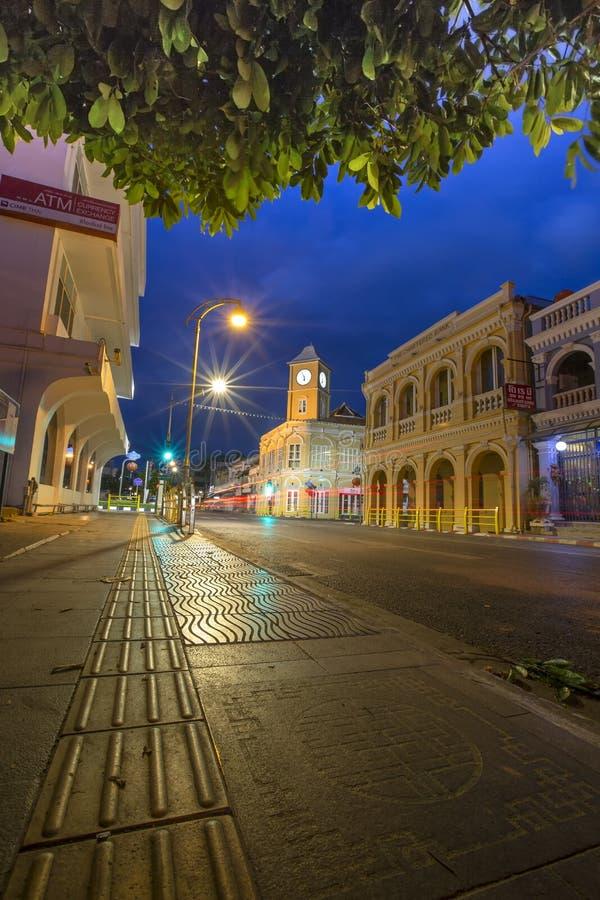 Phuket gammal stad Thailand royaltyfria bilder