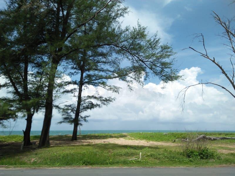 Phuket havssikt längs vägen fotografering för bildbyråer
