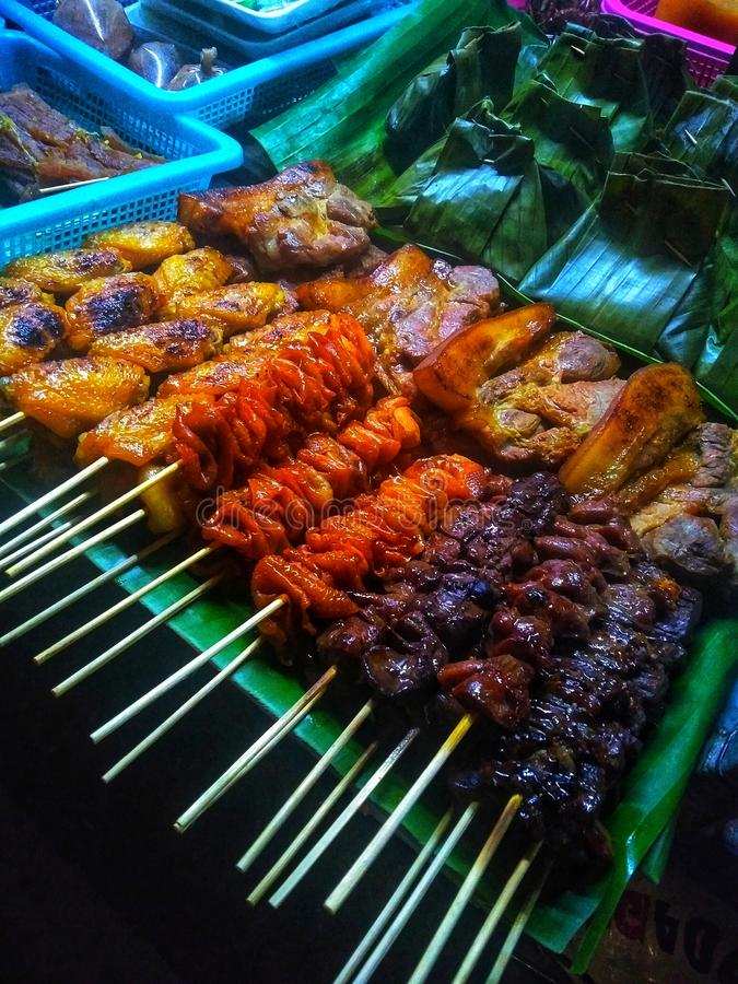 Phuket Karon Grill. Buff, hahn, wild, white, cloth, khgg, nbv, tiger, patterned, cat, e-food, thai, lans, noodles, roasted, chicken, diligent, 2019 stock photo