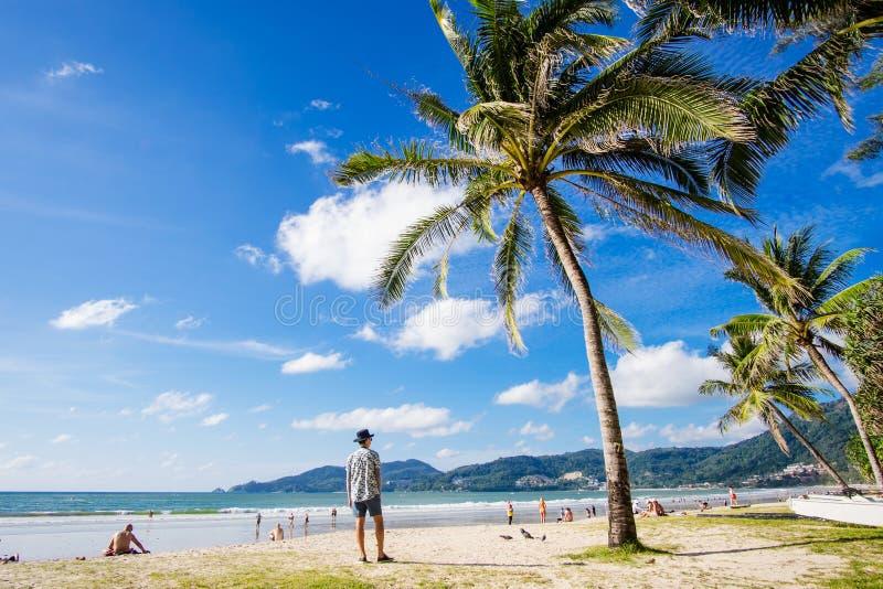 Phuket--Patongstrand stockfotos