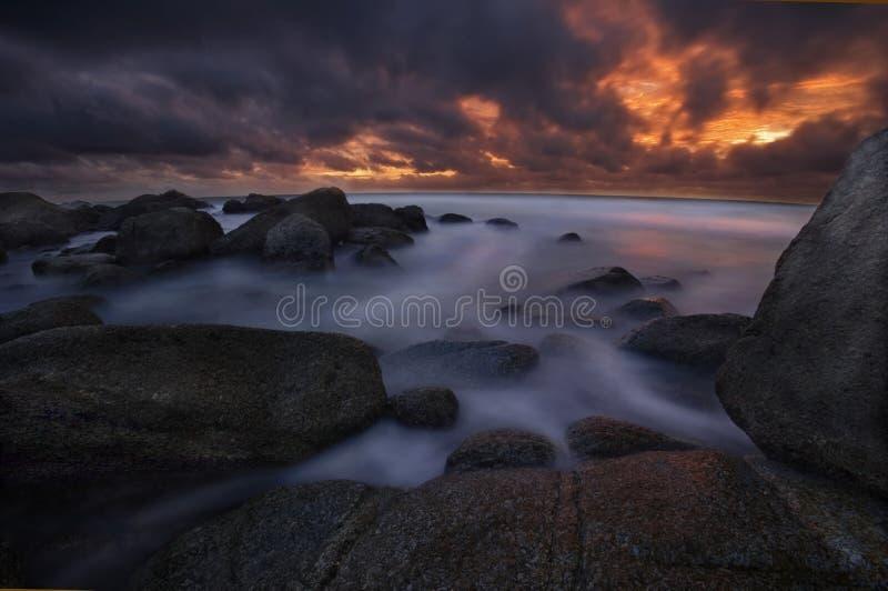 phuket solnedgång fotografering för bildbyråer