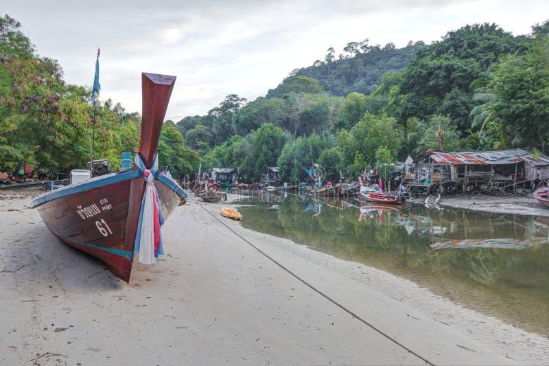 Phuket, Tailândia, outubro, 23, setembro: Áreas residenciais perto da praia de Patong imagem de stock royalty free
