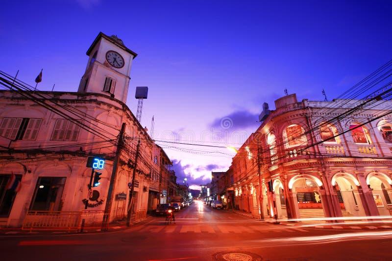 phuket TARGET587_1_ stary miasteczko Thailand zdjęcia royalty free