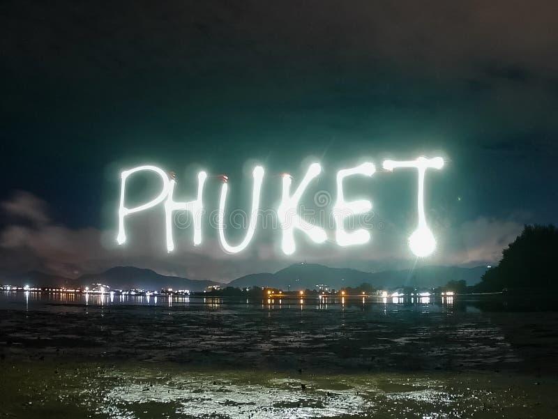 Phuket teksta słowo zdjęcie stock