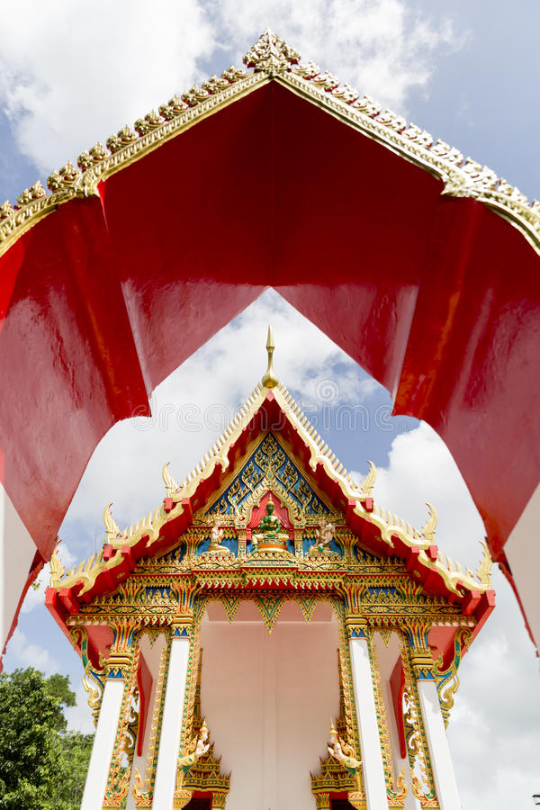 Phuket, Thailand at the Marble Temple. royalty free stock images