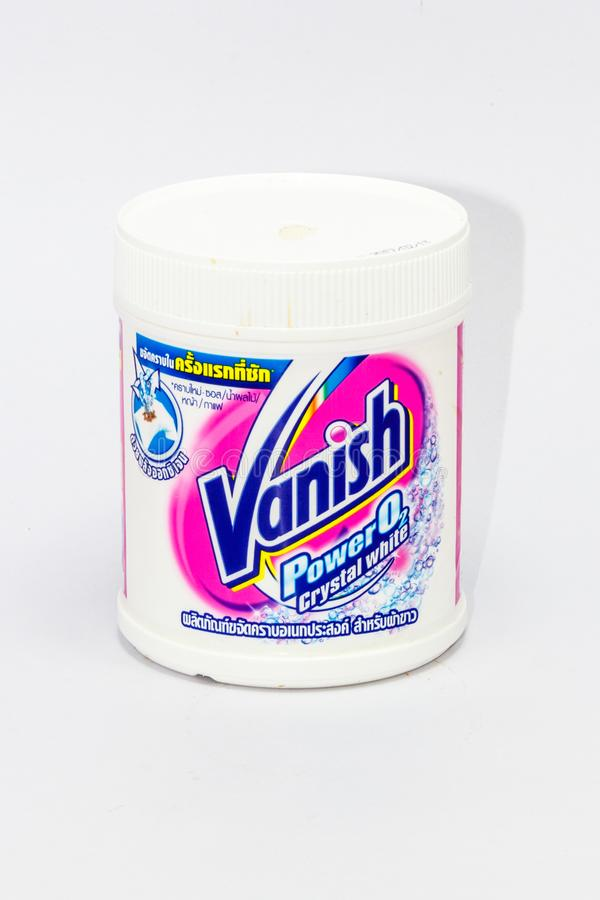 Tub of Vanish wash whitening powder. Phuket, Thailand-17th APril 2018: Tub of Vanish wash whitening powder stock photo