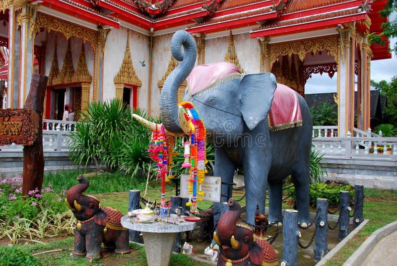 Phuket, Thailand: Wat Chalong Elefant-Schrein lizenzfreie stockfotografie