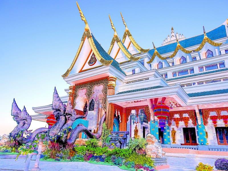 Phukon寺庙艺术 免版税库存图片