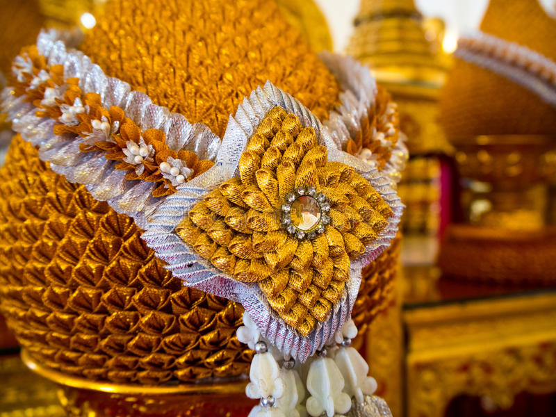 Phum phan золота тайского стиля стоковое изображение