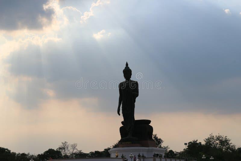 Phutthamonthon, βουδιστικό, πάρκο, Ταϊλάνδη, Μπανγκόκ στοκ φωτογραφία