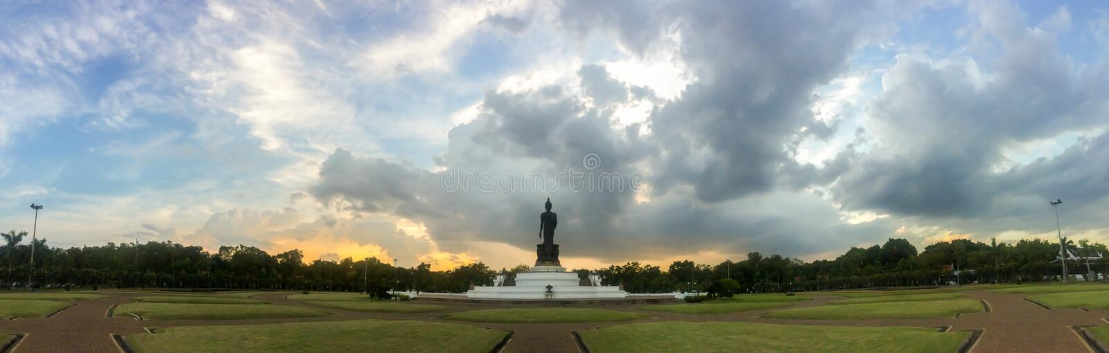 Phutthamonthon is a Buddhist park in the Phutthamonthon District stock photography